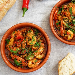 Gambas pil pil – Prawns in garlic and chili