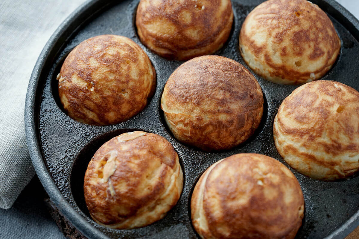 completely round aebleskiver with buttermilk