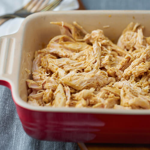 Pulled chicken sous vide - Easy recipe for shredded chicken in sous vide with spices