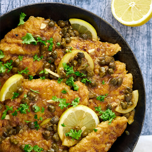 Chicken piccata - Recipe for easy dinner with chicken